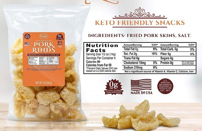 are pork rinds on the ketogenic diet