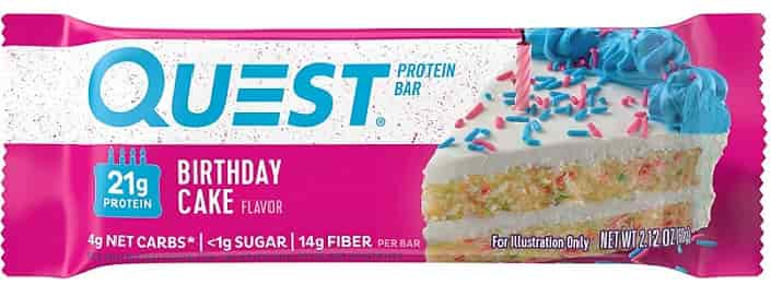 Quest Nutrition Birthday Cake Protein Bar review
