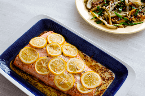 Keto Baked Salmon with Lemon Butter — Recipe