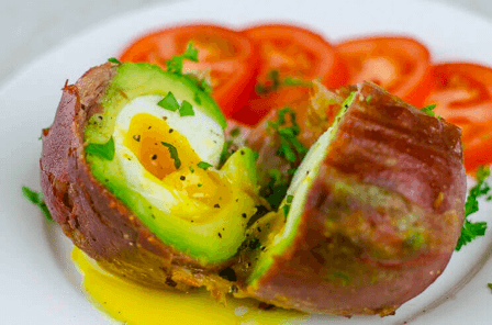 Prosciutto-Wrapped Avocado Egg | Recipe | Avocado egg, Avocado ...